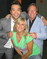 Nik Pringadi, Samantha Fox and Richard Gower